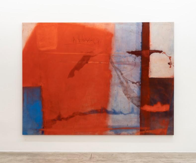 Karin Lambrecht Amar, 2017 pigmentos em meio acrílico e pastel seco sobre lona 200 x 270 x 4 cm