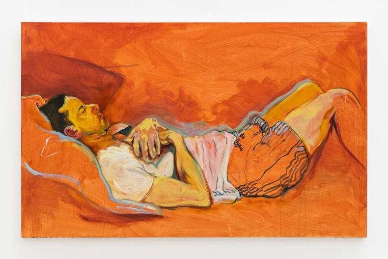 Maria Klabin The Nap, 2018 tinta óleo sobre linho 81 x 130 x 3 cm