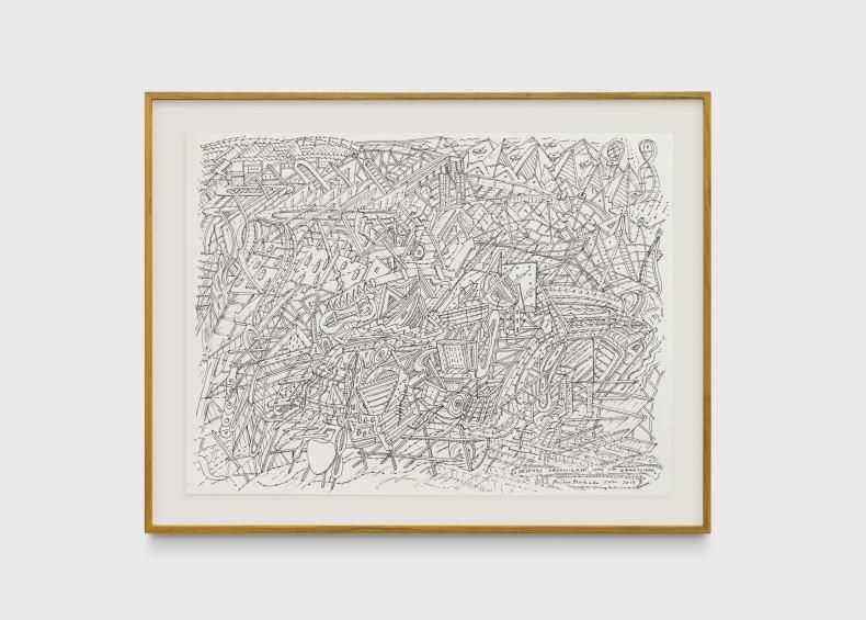 Milton Machado, Desenho organizado como um organismo, 2019 nanquim sobre papel 30 x 40 cm