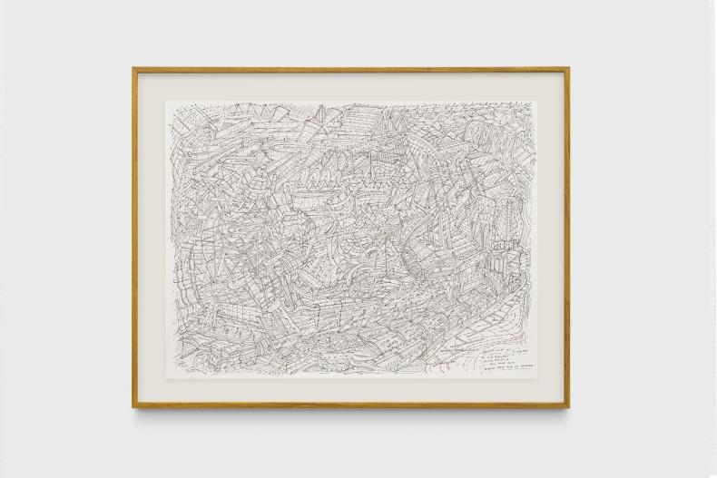 Milton Machado, Desenho feito por um escritor (para J.G. Ballard), 2019 nanquim sobre papel 42 x 56 cm