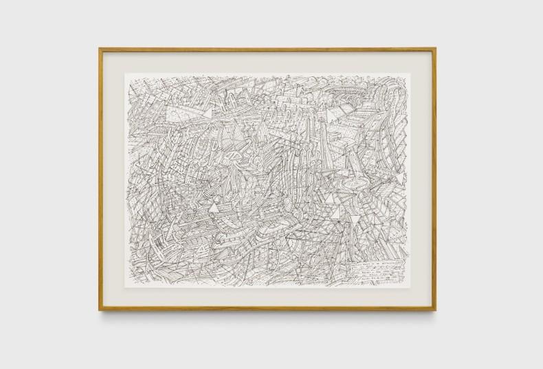 Milton Machado, Desenho prestes a ser destruído por seu título, 2019 nanquim sobre papel 42 x 56 cm
