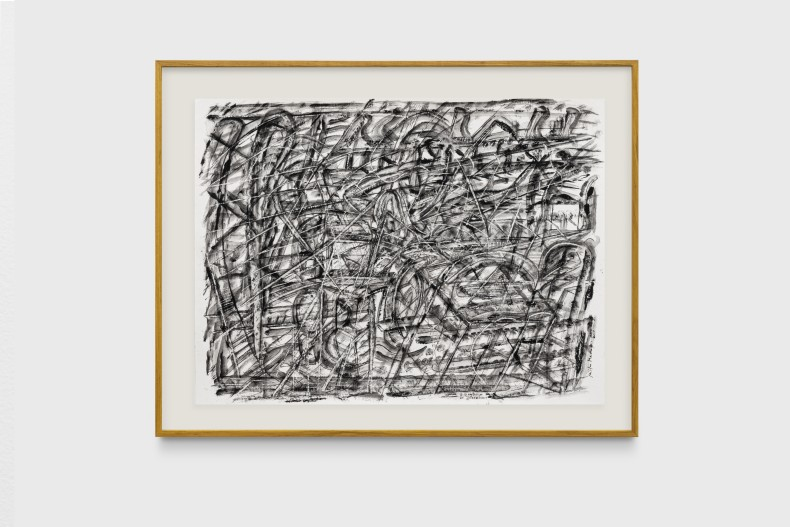 Milton Machado, O barbeiro de Cézanne, 2019 tinta acrílica e nanquim sobre papel 42 x 56 cm