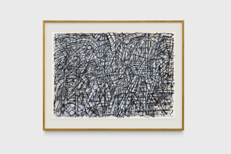 Milton Machado, O pânico de Mondrian diante da árvore, 2019 tinta acrílica e nanquim sobre papel 70 x 100 cm