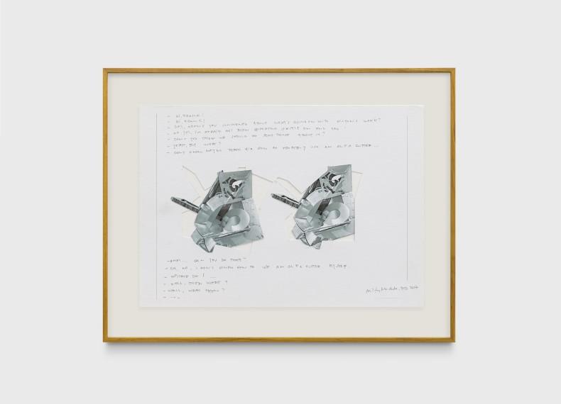 Milton Machado, Hi Frank, 2017 impressão jato de tinta, colagem e grafite sobre papel 21,1 x 29,7 cm