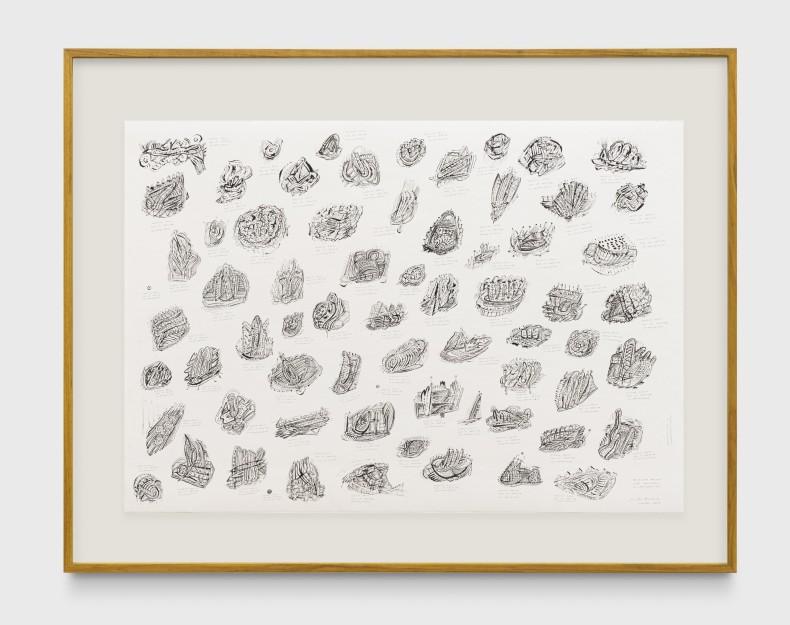 Milton Machado, Desenhos feitos por artistas encarcerados, 2019 tinta acrílica, nanquim e grafite sobre papel 70 x 100 cm