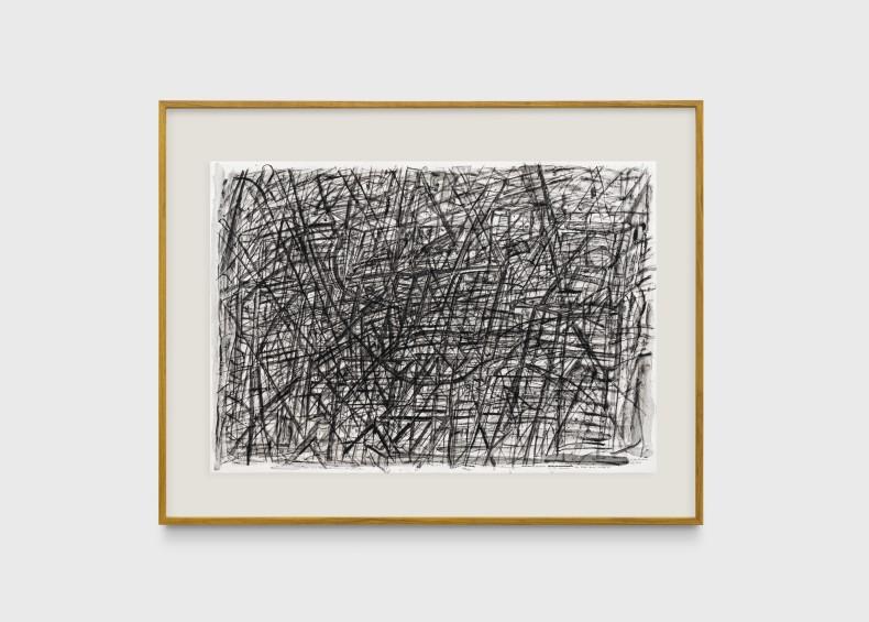 Milton Machado, Desenho muito escuro com rabo muito comprido, 2019 tinta acrílica e nanquim sobre papel 70 x 100 cm