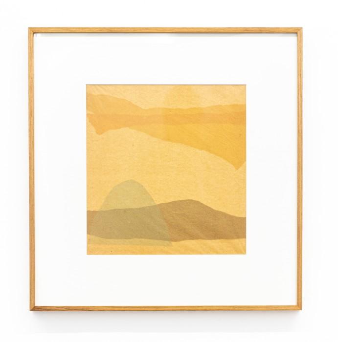 Colagem, 1958-59 sobreposição de papel de seda e papel de arroz tingido 35,5 x 33,2 cm | 14 x 13.1 in