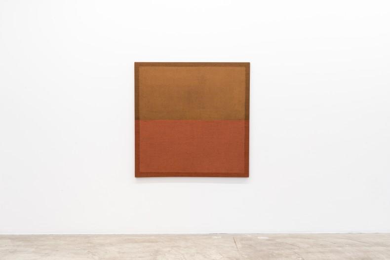 Pintura de horizonte, 2000 tinta acrílica sobre juta 135,5 x 135,5 x 3,8 cm | 53.3 x 53.3 x 1.5 in