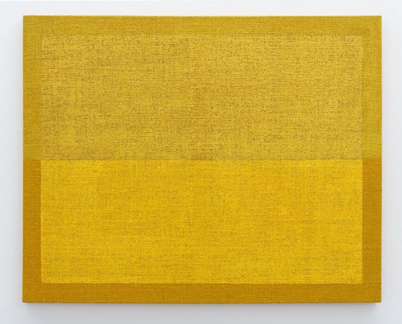 Pintura de horizonte, 1990s tinta acrílica sobre juta 80,2 x 100,2 x 3,3 cm | 31.6 x 39.4 x 1.3 in
