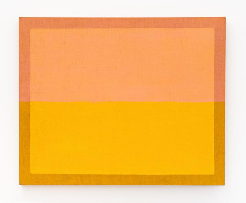 Sem título, da série Horizontes tinta acrílica sobre juta 90,2 x 110,5 x 4 cm | 35.5 x 43.5 x 1.6 in