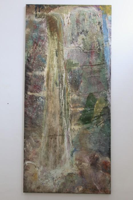 Cristina Canale Queda, 1990 técnica mista sobre tela 250 x 115 cm