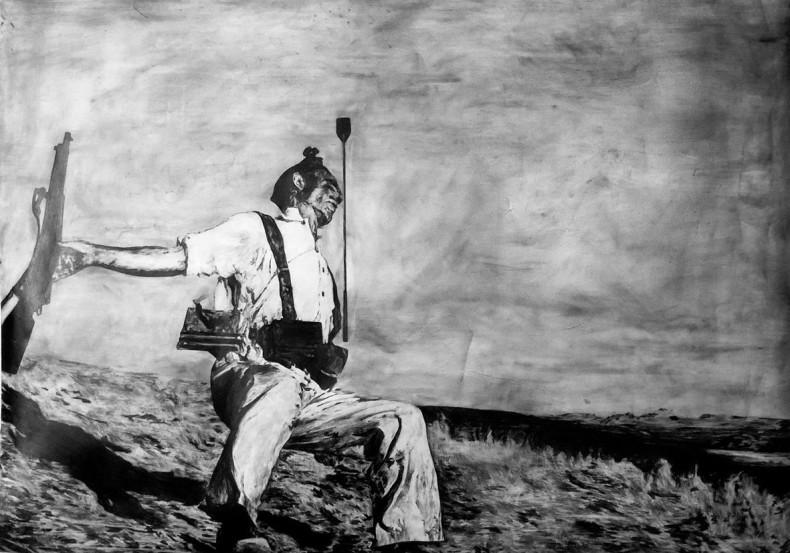 Filipe Lippe Pássaros velhos caem sobre a mesma grama que nós, da série Weltwehmut, 2014 grafite sobre papel 118,9 x...