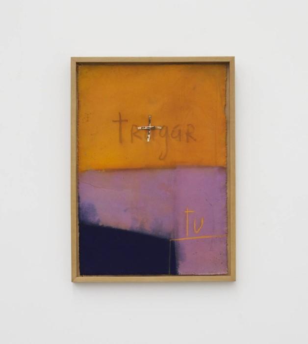 Karin Lambrecht Sem título, 2012 acrílica e pastel seco sobre lona 64 x 45 cm