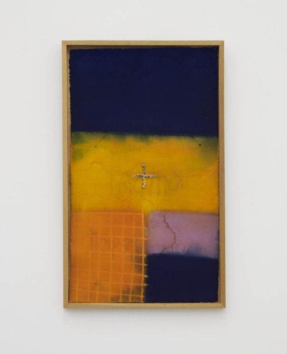 Karin Lambrecht Sem título, 2012 acrílica e pastel seco sobre lona 80 x 44 cm