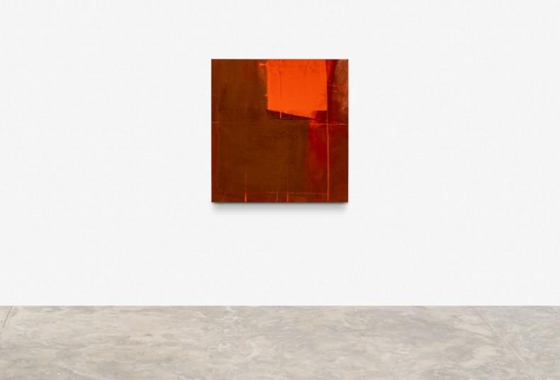 Karin Lambrecht Fragmento, forma e vermelho, 2007 pigmento, terra, colagem com feltro sintético e pastel sobre lona 107 x 102...