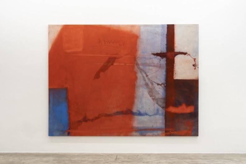 Karin Lambrecht Amar, 2017 pigmentos em meio acrílico e pastel seco sobre tela 200 x 270 x 4 cm