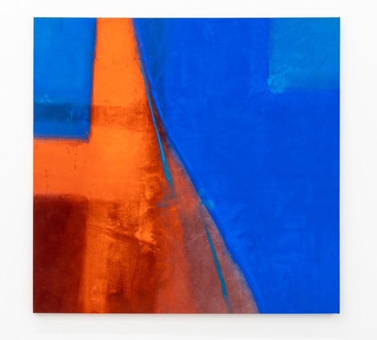 Karin Lambrecht Men and Woman, 2018 pigmentos em meio acrílico e carvão vegetal sobre lona 162 x 168.5 cm