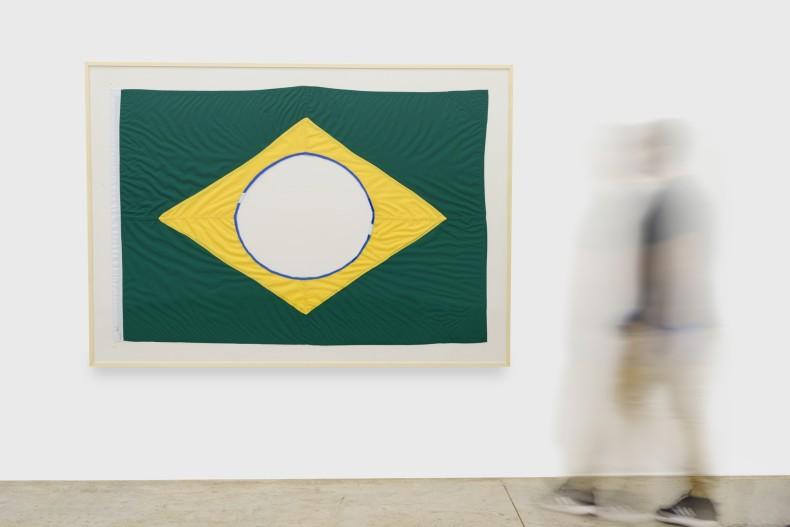 Raul Mourão The New Brazilian Flag # 3, 2019 tecido 128 x 190 cm