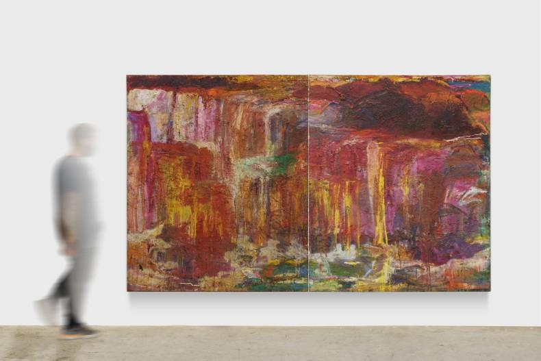 Cristina Canale Lacrima Christie, 1989 tinta óleo sobre tela 2 peças de 180 x 150 x 4 cm (cada)
