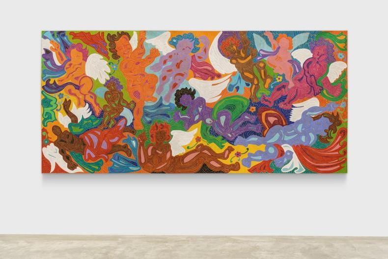 J. Cunha Barroco Safado, 2012/2013 tinta acrílica sobre tela 140 x 300 cm