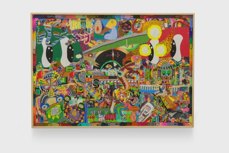 Thiago Barbalho Peito de pombo, 2021 lápis de cor, grafite, caneta esferográfica, marcador permanente, acrílica, óleo e spray sobre papel...