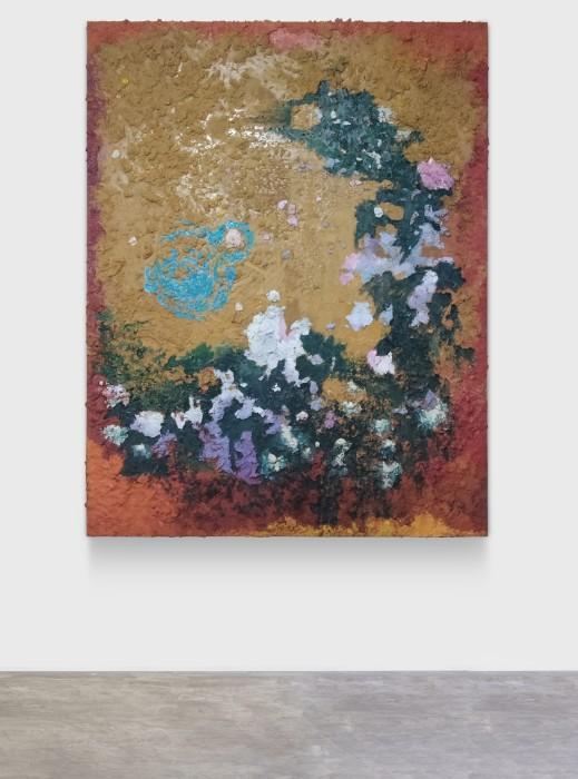 Ana Cláudia Almeida Sem título, 2021 óleo, areia, PVA, resina acrílica e pigmento sobre tela 180 x 140 cm