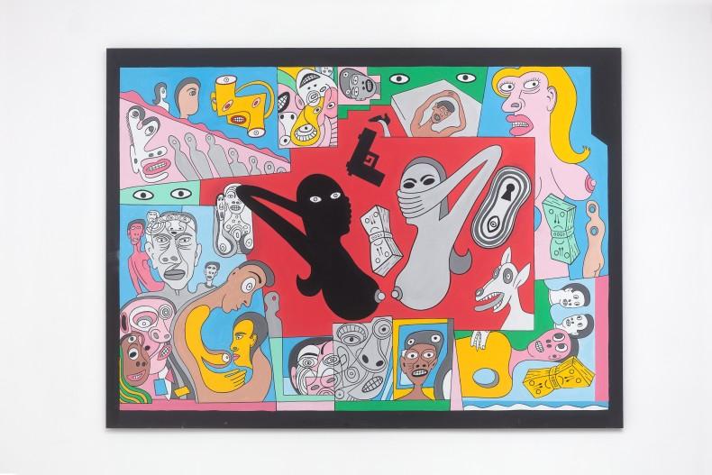 Victor Arruda No espelho, 2019 tinta acrílica sobre tela 140 x 190 cm