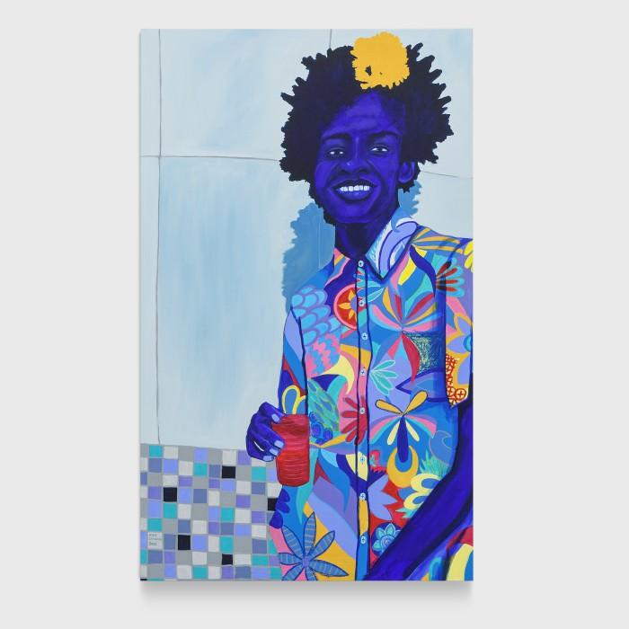 Kika Carvalho Sem título, 2021 tinta acrílica e giz pastel oleoso sobre tela 150 x 100 cm