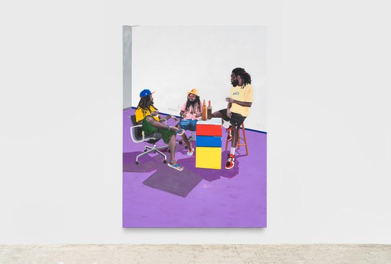 No Martins Sem título (Série: Encontros Políticos), 2021 tinta acrílica sobre tela 280 x 200 cm