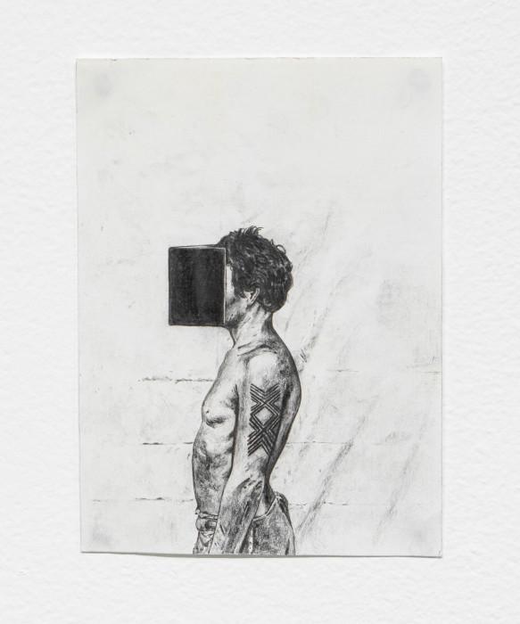 Filipe Lippe Weltwehmut - Índio evangelista, 2020 grafite sobre papel 17,3 x 12,5 cm