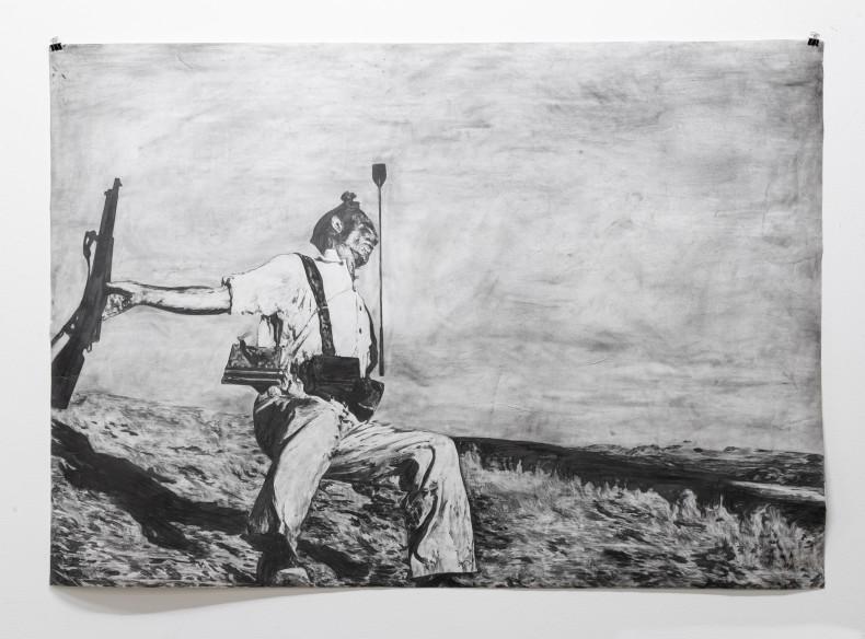 Filipe Lippe Weltwehmut - Pássaros velhos caem sobre a mesma grama seca que nós, 2014 grafite sobre papel 77,7 x...