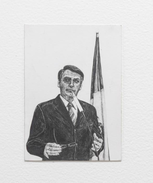 Filipe Lippe Weltwehmut - Às vezes o prazer vem do que se mais teme, 2019 grafite sobre papel 19,6 x...
