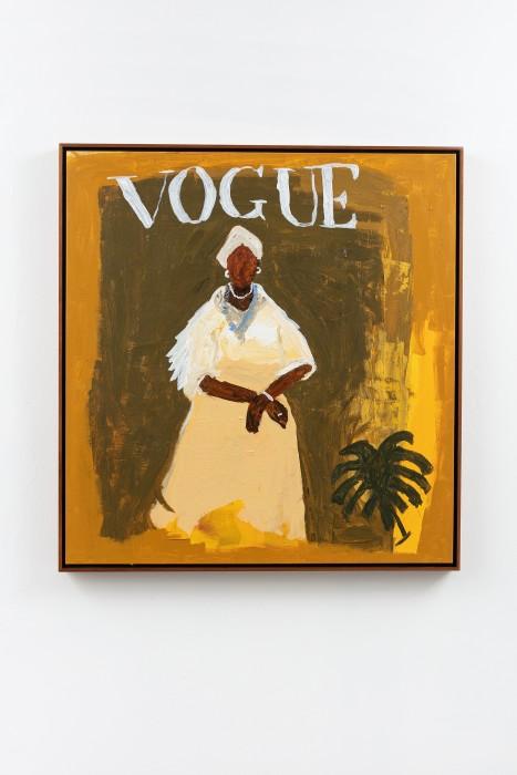 Elian Almeida Dona Ester - Irmandade da Boa Morte (Vogue Brasil), 2021 tinta acrílica sobre tela 95 x 90 x...