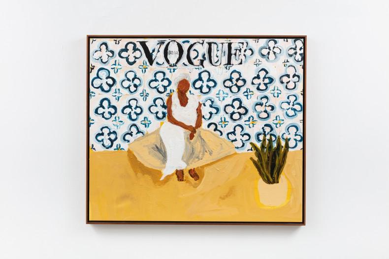 Elian Almeida Tia Maria do Jongo (Vogue Brasil), 2021 tinta acrílica sobre tela 94 x 109 x 4 cm