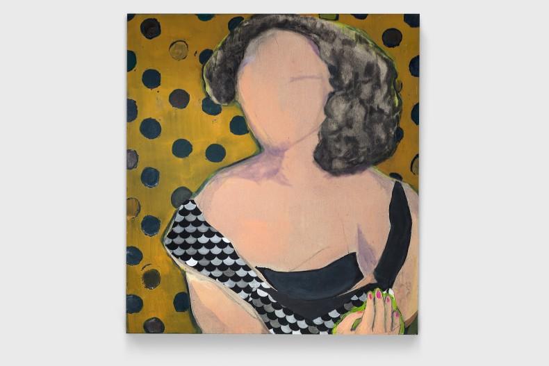 Cristina Canale Petit pois, 2020 acrílica, óleo, grafite, carvão e colagem de tecido de algodão sobre linho 110 x 100...