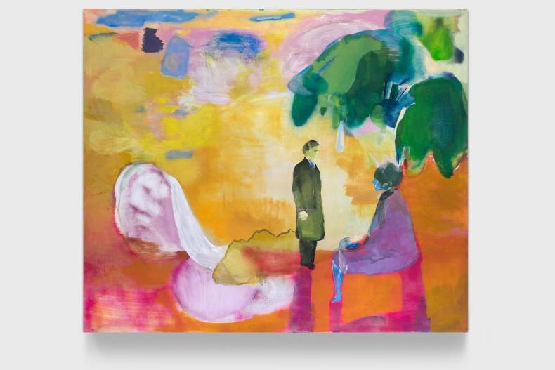 Cristina Canale O encontro, 2021 acrílica, óleo e spray acrílico sobre tela 170 x 200 x 4 cm