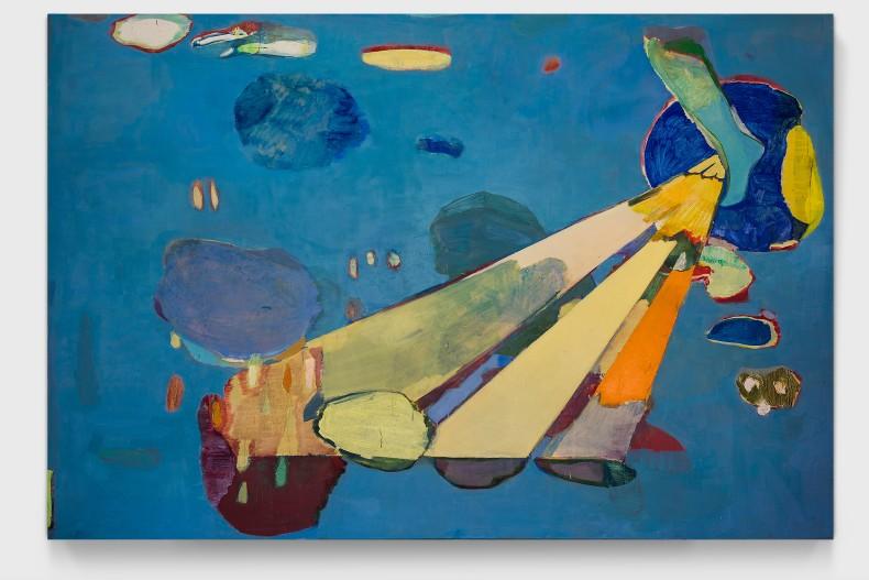 Cristina Canale Tropeço, 2021 acrílica e óleo sobre tela 200 x 300 x 4 cm