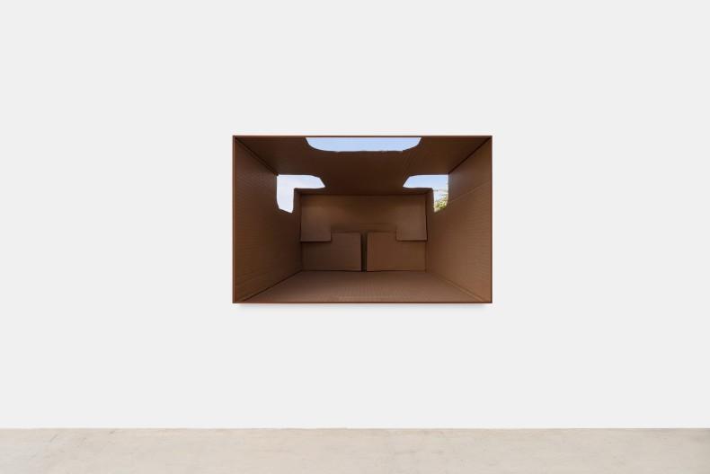 Lucia Koch Helmet_2, 2020 impressão em pigmento sobre papel algodão (verniz UV) 110 x 172 cm