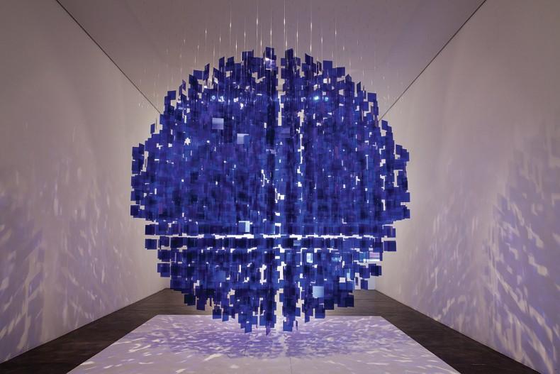sphère bleue, 2001 / 2013
