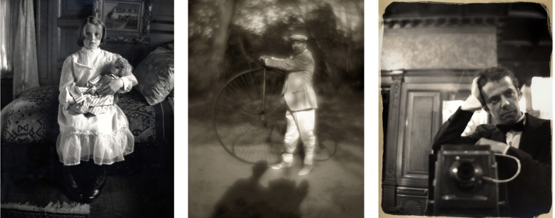clayton days: girl with doll / man with bicycle / the photographer, 2000