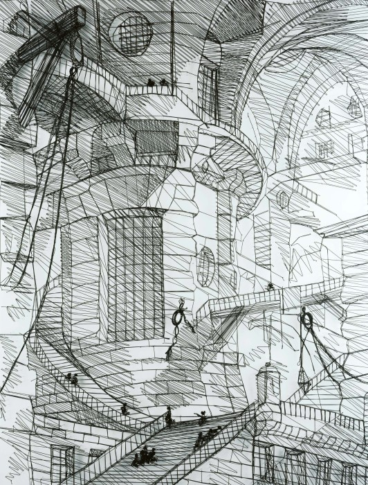 piranesi series: carcere iii, the round tower, 2002