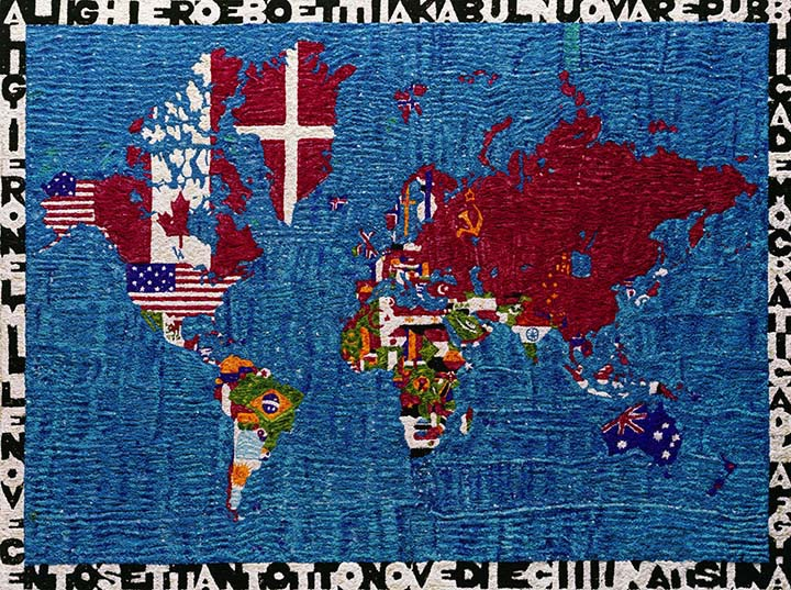 Pictures of Pigment: Map of the world, after Boetti, 2009
