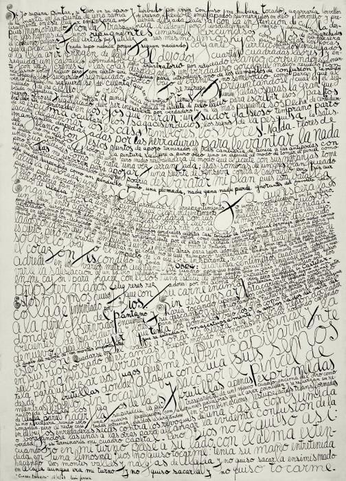 Quadro escrito , 1964