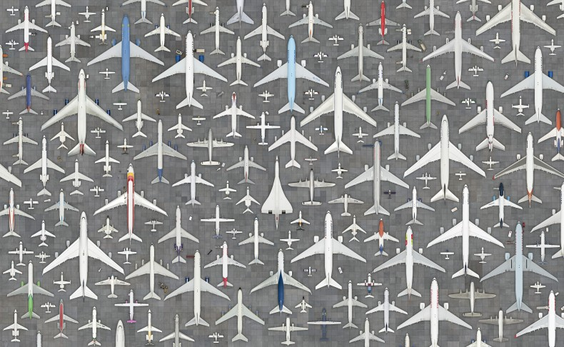Aviões #01, da série Coletivos, 2017
