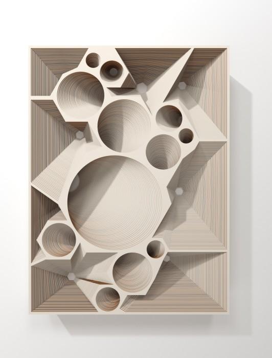 Marco A. Castillo Low relief # 03, 2020 cartão / cardboard 103 x 77 x 11 cm / 40.6 x...