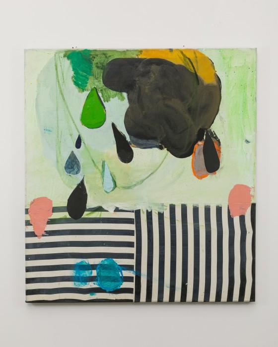 Cristina Canale Listras e lágrimas, 2020 tinta óleo e tecido sobre tela / oil paint and fabric on canvas 110...