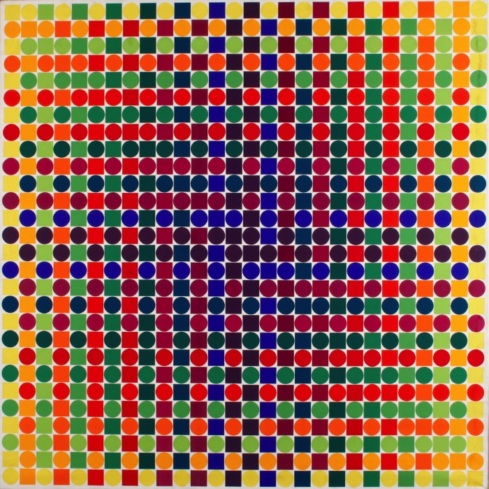 julio le parc, surface couleur série 29 1-1 1-1, 1970