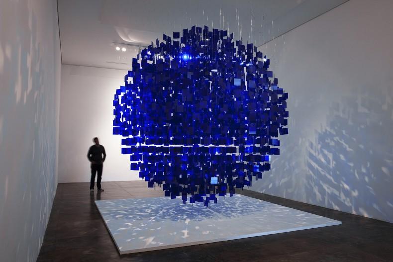 julio le parc, sphère bleue, 2001 / 2013