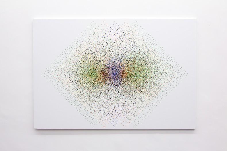 Julio Le Parc Alchimie 370, 1997/2017 tinta acrílica sobre tela 130 x 195 cm