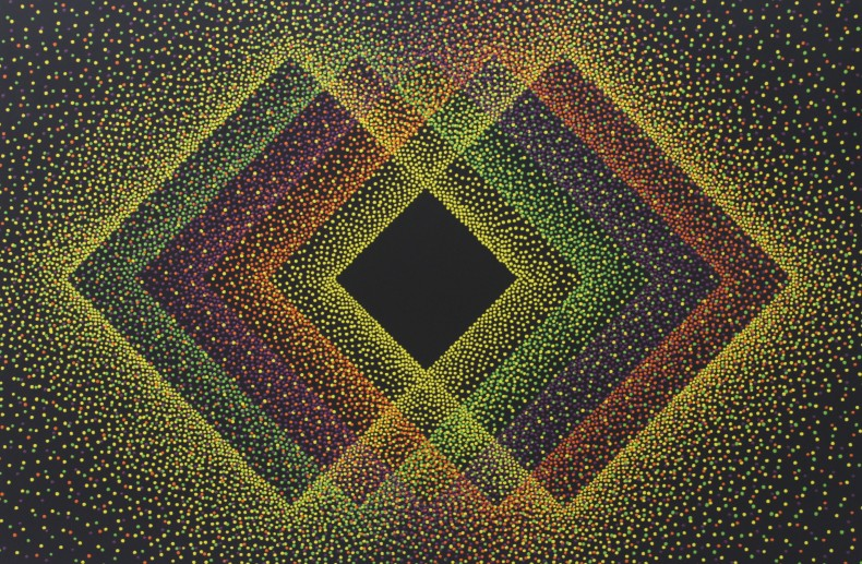 Julio Le Parc Alchimie 394, 2018 tinta acrílica sobre tela 130 x 195 cm